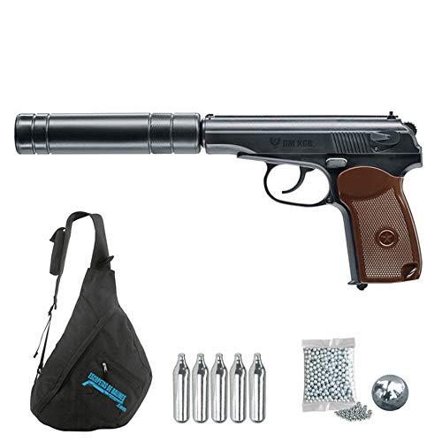 Legends Makarov PMK KGB Rusa | Pistola de balines (Bolas BB's de Acero) y CO2 umarex. Semiautomática, Calibre 4.5mm