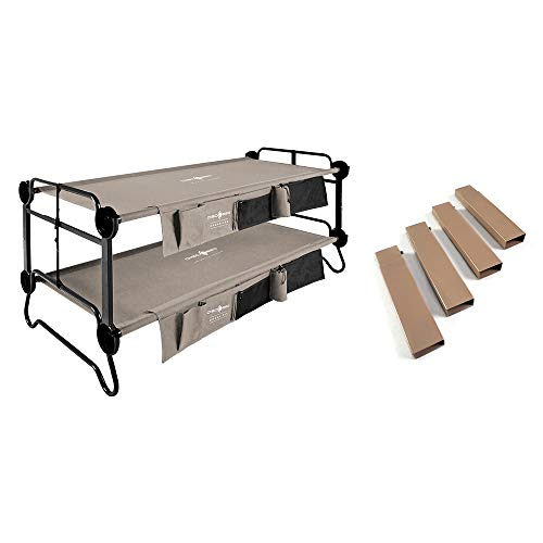 Disc-O-Bed XL Cam-O-Bunk Double Cot w/ Organizers & 7-inch Steel Leg Extensions