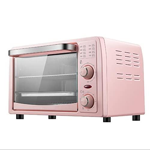 fgfg Horno eléctrico de Cocina, Horno de tostadora de Acero Inoxidable con Parrilla, Mini sartén Multifuncional Tiempo y Control de Control de Temperatura