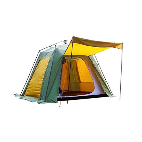 Multi-persona acampando campamento excursión prueba
