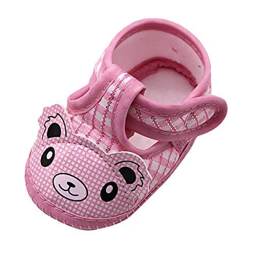 Newborn Baby Walking Shoes Slippers Socks,Girls Cartoon Cute Bear Soft Sole Sandals Single Walking Socks Shoes