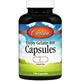 Carlson - Empty Gelatin #00 Capsules, Easy to Separate & Fill, 150 capsules