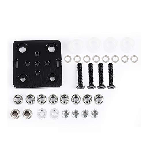 Aibecy Mini V deurlijst met wiel voor V-slot, aluminium profiel, accessoires, 3D-printerset voor CNC-kossel Nema 23 wit wiel Ruedas blancas