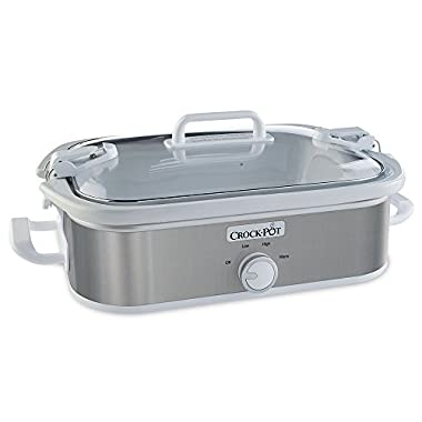 Crock-Pot SCCPCCM355-SS 3.5 Quart Slow Cooker Stainless Steel White