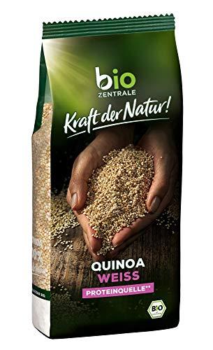 biozentrale Quinoa Bio Weiß | 400g Quinoa Samen Bio| Reis, Chia Samen & Leinsamen Alternative