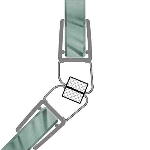 Magnetdichtungen Duschdichtung 135° Magnetprofil Steckprofil Duschdichtung Glasdusche 1 Set für 5-8 mm Glasstärke