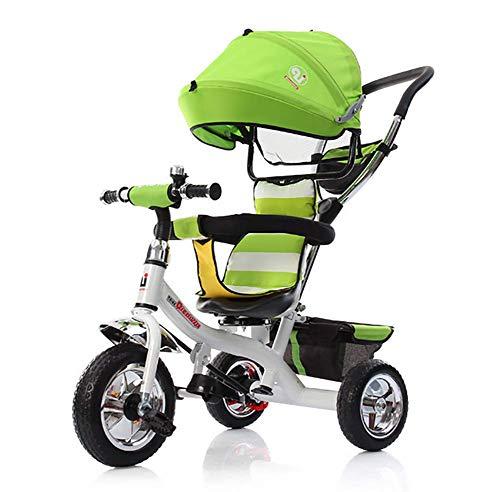 GHDE& Trike 3-in-1 360° draaizadel voor kinderen, driewielers met pedaalblokkering en stille wielen, 10 maanden tot 6 jaar, maximaal gewicht 30 kg