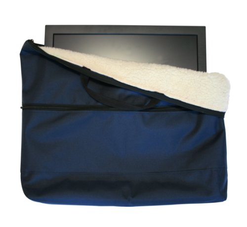 Fleece lined 22 inch Caravan Camping TV Monitor Storage & Carrying Bag Case in Blue
