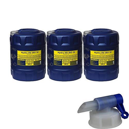 3x 20 Liter Mannol Hydro HV ISO 32 Hydrauliköl HVLP 32 Öl Oil DIN 51524/3