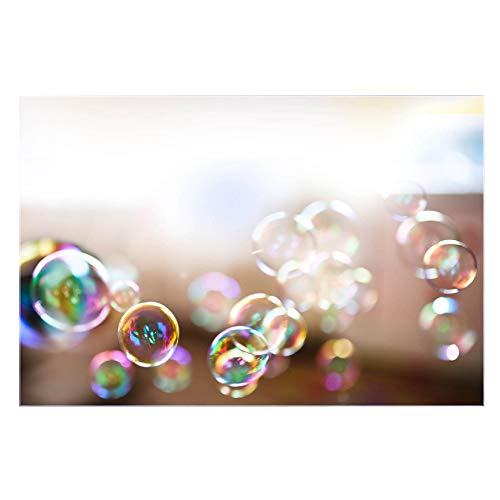 banjado Glas Nischenrückwand für Küche 75cm x 50cm | Küchenrückwand mit Motiv Seifenblasen | Spritzschutz selbstklebend ohne Bohren | Fliesenspiegel magnetisch und beschreibbar