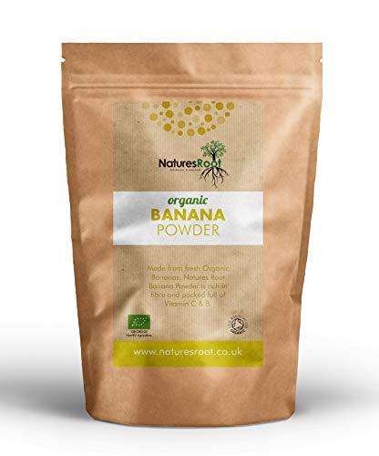 Natures Root Bio-Bananenpulver - Vegan und Glutenfrei | Natürliche Quelle für Ballaststoffe, Vitamine und Mineralien | Nährstoffreiches Superfood | Wiederverschließbarer Beutel (250g)