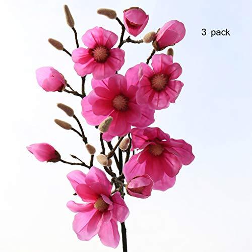Sarazong Artificielle Fleur De Magnolia, Longue Branche Étage Arrangement De La Fleur Décoration Salon Ameublement Faux Fleur Artificielle Fleur Everlasting,A