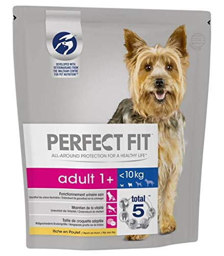 PERFECT FIT Insgesamt 5 Kroketten Erwachsene kleinen Hund Huhn 1,4kg 1+ (3er-Pack) 1