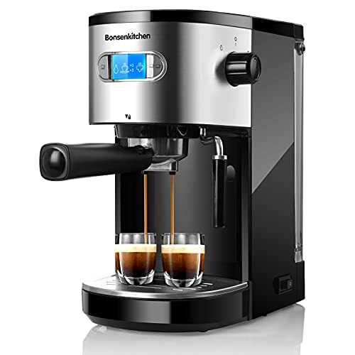 Espresso Machine 20 Bar Coffee Machine with Milk Frother Wand, 1350W High Performance No-Leaking 1.25L Removable Water Tank Coffee Maker For Espresso, Cappuccino, Latte, Machiato, For Home Barista