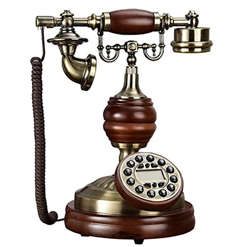 Escultura Estatua Figurines para la sala de hogar patio patio césped decoración al aire libre retro decorativo creativo teléfono vintage retro landline house casa antigua moda con cable teléfono europ