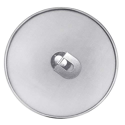 Gemini_mall Edelstahl-Spritzschutz, Spritzschutz für Bratpfanne, heißes Öl, Bratpfannen-Deckel, Fett-Spritzschutz zum Kochen und Braten 25cm/10inch