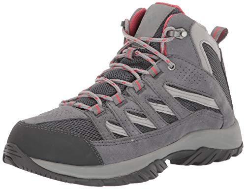 Columbia Women's Crestwood Mid Waterproof Hiking Shoe, Graphite, Daredevil, 8 Regular US