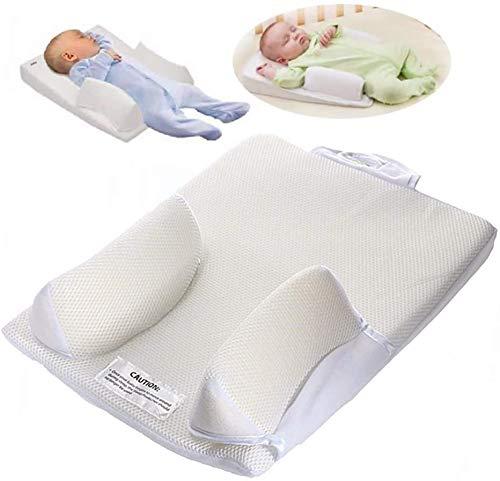 SJHP Coussin de Couchage pour bébé Oreiller de Couchage Oreiller de Lait Anti-Rotation Anti-crachat lit Lavable