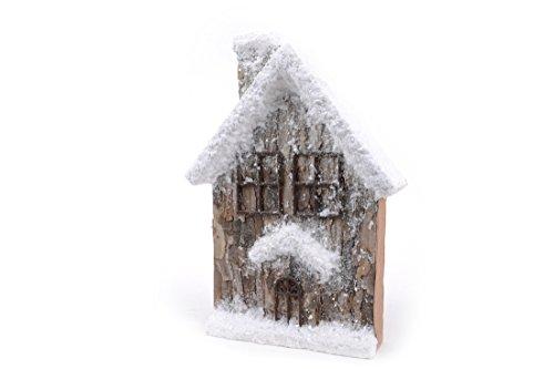 Viscio Trading 172022 Maison de Neige Grand, Bois, Blanc, 32 x 9 x 46 cm