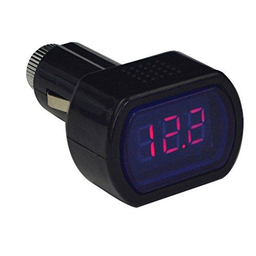 Chakil 12-24V LED Zigarettenanzünder Autobatterie Tester Spannungsanzeige Voltmeter 70 * 40 * 30 mm