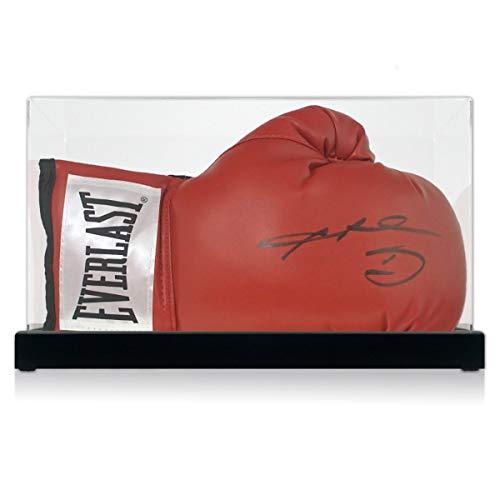 exclusivememorabilia.com Guante de Boxeo Firmado por Sugar Ray Leonard. Estuche de Muestra