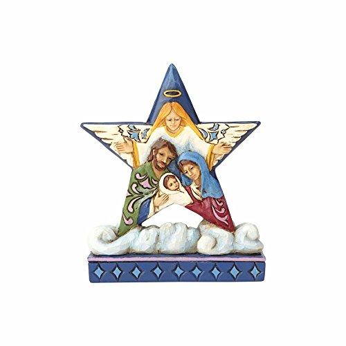 Enesco 4058811 Stella Con Sacra La Famiglia, 8 Cm, Resina, Multicolore, 6X6X8 Cm
