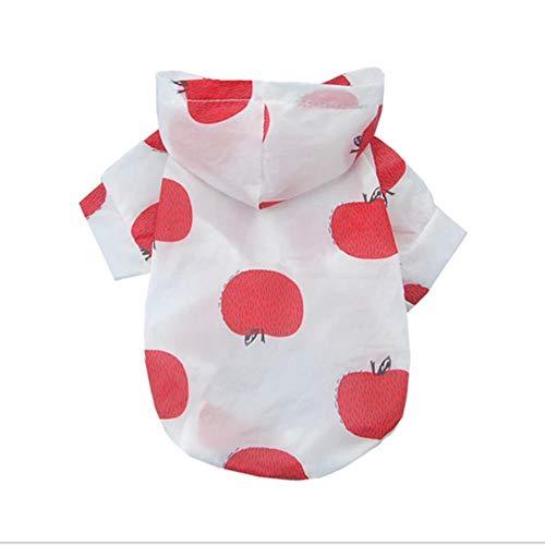 GOUSHENG-kostuums voor honden, puppy's, Yorkie, kleding, jas, vest, kattenkleding 40S3, M, Red apple