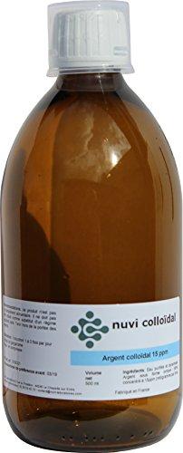 ARGENT COLLOIDAL 15ppm 500 ml - Fabricant français d'argent colloïdal et d'oligo-éléments