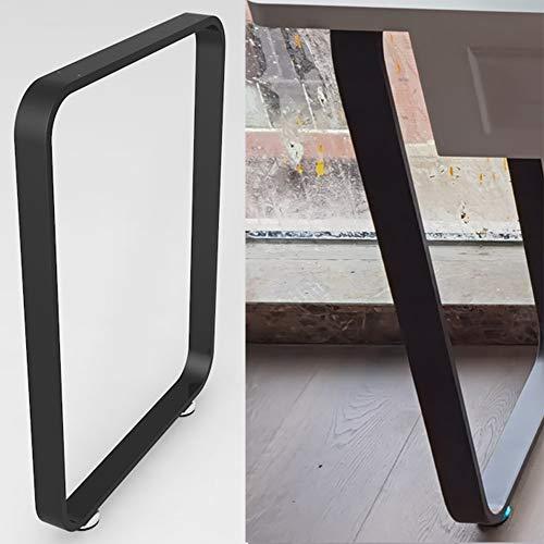 YSBS Patas En Hierro para Mesa Patas Metal De Mesa Patas Negro De Escritorio 450 * 725mm Patas Industriales De Mesa De Comedor/Muebles 1 Pieza