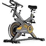Cubierta aptitud bici de asiento ajustable y el manillar, Plataforma de bicicleta de ejercicios ultra silencioso ajustable magnética Resistencia Inicio Bicicleta con monitor LCD y Tablet Holder