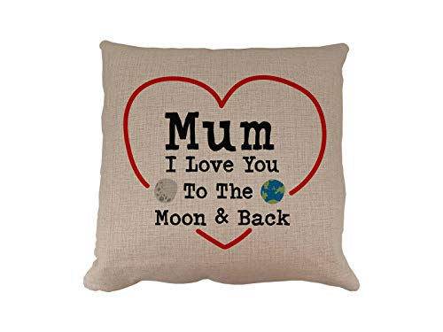 Mornng Cuppa Laugh Share Repeat Mum Love You To The Moon and Back Cushion