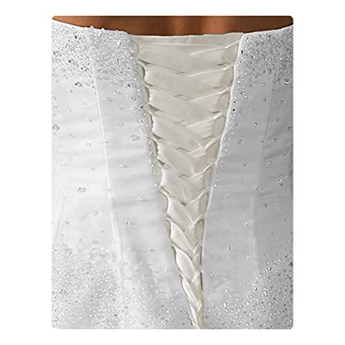 Laceeis Wedding & Bridesmaid Gown Replace Zipper Adjust Fit Corset Back Kit Lace-Up Satin Light Ivory 12'