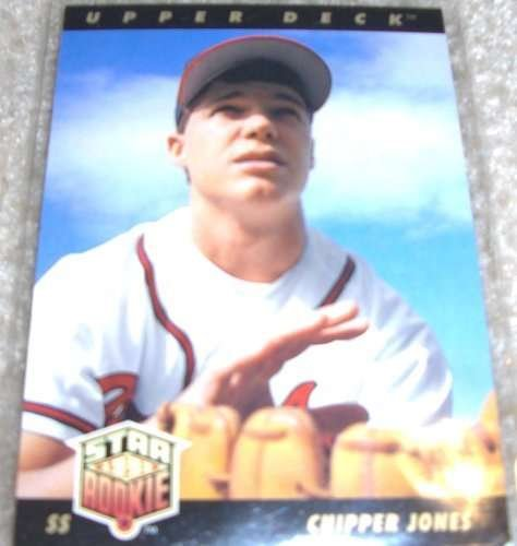 1993 Upper Deck #24 Chipper Jones Atlanta Braves Baseball Card Chipper Jones Atlanta Braves Baseball