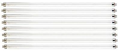"""Pack of 8 F28T5/835 28 watt 48"""" Straight F28 T5 Mini Bi-Pin (G5) Base, 3,500K Soft White Octron Fluorescent Tube Light Bulb"""