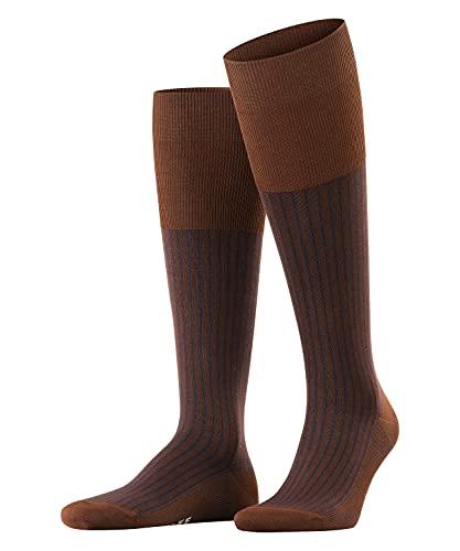FALKE Herren Oxford Stripe Socken, braun (chestnut 5540), 39-40