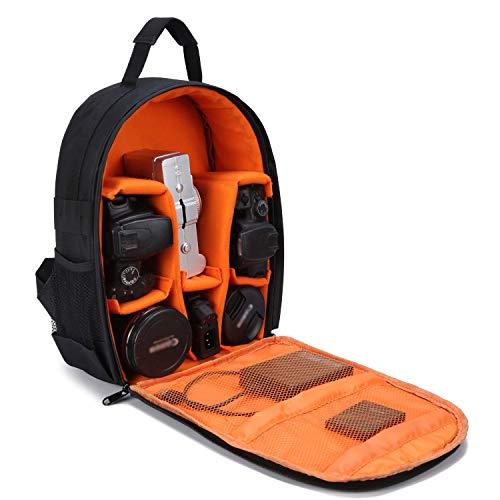 Kamerarucksack, Selighting DSLR Kamerarucksack Wasserdicht Fotorucksack Kamera Rucksack für Canon Nikon Sony SLR Spiegelreflexkamera mit Regenschutzhülle (Orange)