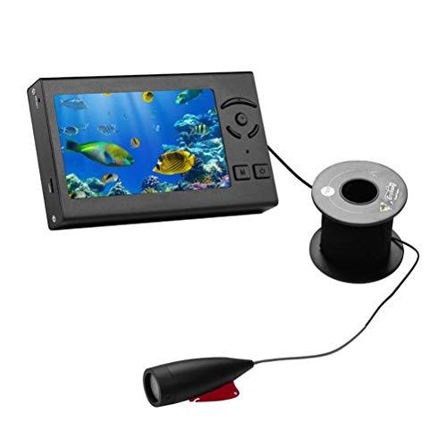 WWJJLL Tragbare Fish Finder, Visuelle Farbe High-Definition-Unterwasserkamera, Tiefer Locator Wireless-Sonar 4.3 Zoll LCD-Monitor, Fischfinder 15M für Sea Fishing