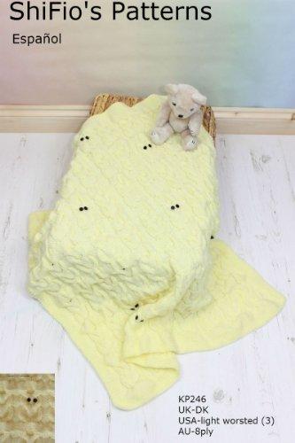 patrón para dos agujas – KP246 - bebé manta