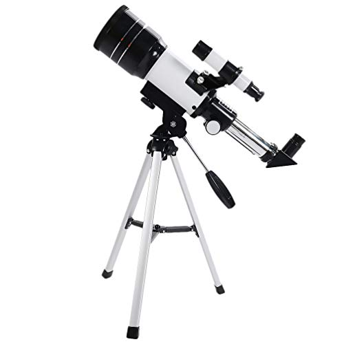 Affordable UKCOCO Travel Telescope with Adjustable Tripod, 70mm Astronomy Refractor Telescope for Ki...