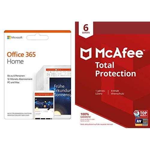 Microsoft Office 365 Home + Mcafee Total Protection 6 Gerät