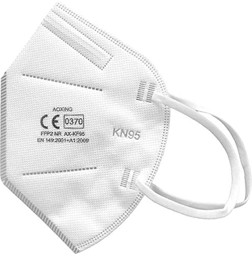 20 Mascherine FFP2/KN95 certificate CE 0370, INAIL, mascherina a quattro strati, filtraggio certificato maggiore/uguale 95%