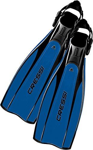 Cressi Pro Light Fins, Pinne con Cinturino Regolabili per Immersione e Snorkeling, Unisex – Adulto, S/M, Multicolore (Nero/Blu)