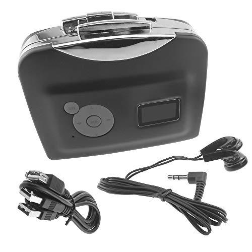 Portable Cassette Player Vintage, Cassette to MP3 Converter Save into USB Flash Drive, Capture Cassette Tape to MP3/CD via USB, No Need PC & Driver