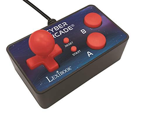 Lexibook Piece Cyber Arcade TV-Spielekonsole, 200 Spiele, Plug N \'Play-Controller, Sport, Action, Joystick, Schwarz/Blau