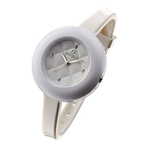OPSOBJECTS · OPS!MATELASSÈ CRYSTAL WATCHES · Armbanduhr | Uhrarmband | Uhrband · weiß silber