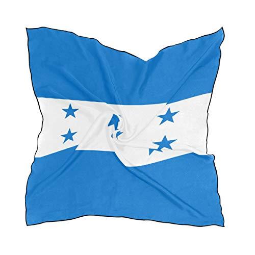 DEZIRO Head Wrap Bandera de Honduras Mujer Moda Bufanda Ligera Idea Suave Regalo 23.6 x 23.6 in