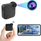 Mini Spy Camera with Audio and Video - Nanny Cam Hidden Cameras for Home Security Wireless with WiFi, HD 1080P, Cell Phone App, Night Vision and Motion Detection