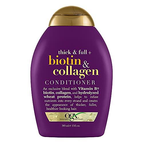Organix - Acondicionador densamente y Biotin y colágeno llenos - 13 oz.