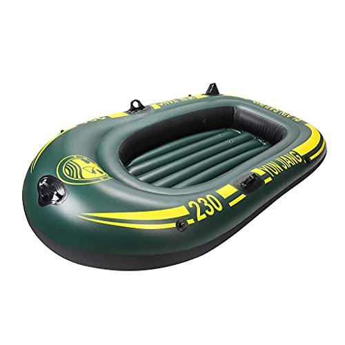 WBJLG Bote Inflable para 2 Personas, Botes de Goma de Asalto de Kayak de balsa Gruesa, Botes de aerodeslizador Resistentes al Desgaste para Entretenimiento de Pesca