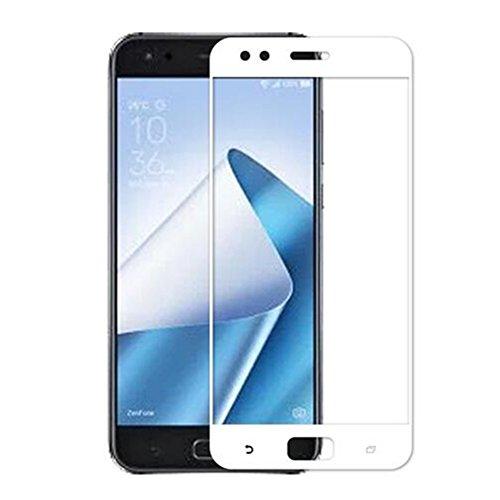 XMT Asus ZenFone 4 ZE554KL 5.5' Pellicola Protettiva,Ultra Resistente Full Coverage Durezza 9H Vetro Temperato Protezione Schermo per Asus ZenFone 4 ZE554KL Smartphone (Bianco)